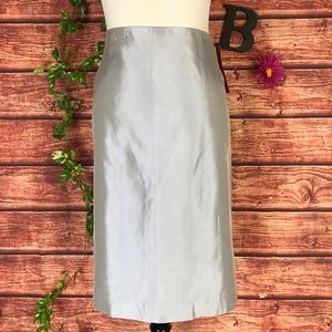 JS Collection Skirt 14 Gray Straight Knee Wedding